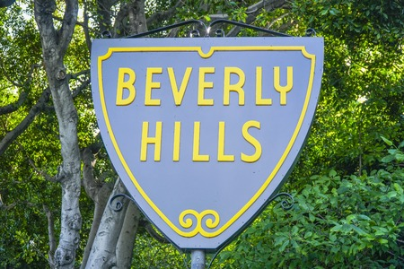 Famous Beverly Hills sign - LOS ANGELES - CALIFORNIA - APRIL 20, 2017