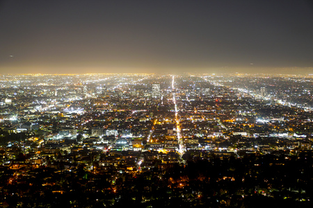 Wonderful Los Angeles by night - aerial view - LOS ANGELES - CALIFORNIA