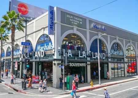 La La Land souvenirs in Hollywood - LOS ANGELES - CALIFORNIA - APRIL 20, 2017