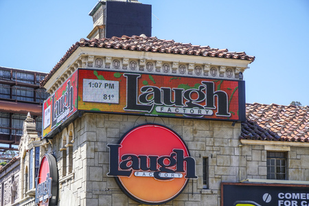 The Laugh Factory at Sunset Boulevard in Los Angeles - LOS ANGELES - CALIFORNIA - APRIL 20, 2017 Editorial