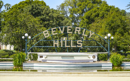 Big Beverly Hills sign in Los Angeles - LOS ANGELES - CALIFORNIA - APRIL 20, 2017