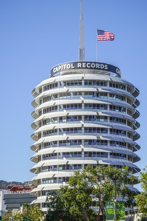 The Tower of Capitol Records in Los Angeles - LOS ANGELES - CALIFORNIA Editorial