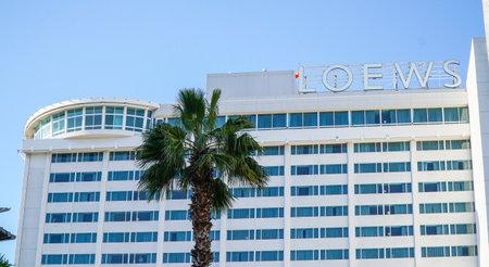 Loews Hollywood Hotel in Los Angeles - LOS ANGELES - CALIFORNIA Editorial