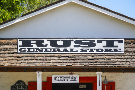 general store: Rust General Store in San Diego Old Town - SAN DIEGO - CALIFORNIA - APRIL 21, 2017 Editorial