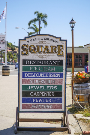 Wallach and Goldman Square in San Diego Old Town - SAN DIEGO - CALIFORNIA - APRIL 21, 2017