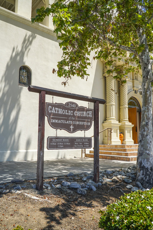 Catholic church of the immaculate conception in San Diego - SAN DIEGO - CALIFORNIA - APRIL 21, 2017