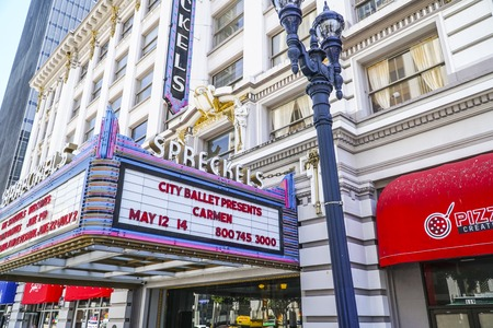 Famous Spreckels Theater in San Diego - SAN DIEGO - CALIFORNIA - APRIL 21, 2017