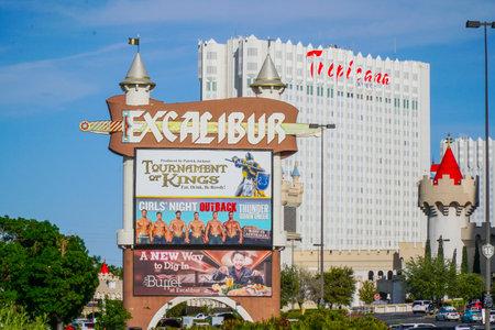 Famous Excalibur Las Vegas - LAS VEGAS - NEVADA - APRIL 23, 2017