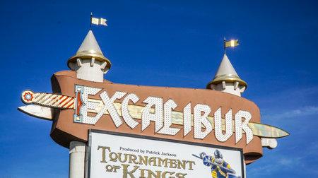 Excalibur Hotel in Las Vegas - LAS VEGAS - NEVADA - APRIL 23, 2017