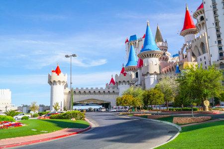 Beautiful Excalibur Hotel and Casino in Las Vegas - LAS VEGAS - NEVADA - APRIL 23, 2017 Editorial