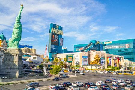 gambler: NY NY Hotel and MGM Grand in Las Vegas - LAS VEGAS - NEVADA - APRIL 23, 2017
