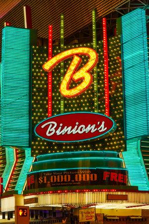 gambler: Binions Horseshoe Casino in Downtown Las Vegas - LAS VEGAS - NEVADA - APRIL 23, 2017 Editorial