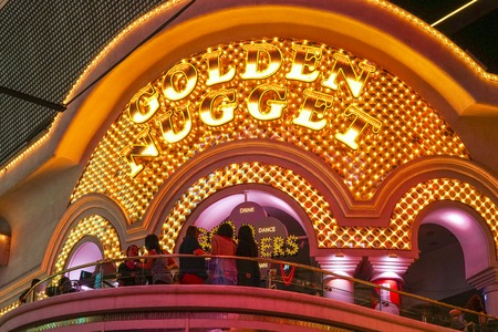 Famous Golden Nugget Hotel and Casino in Downtown Las Vegas - LAS VEGAS - NEVADA - APRIL 23, 2017