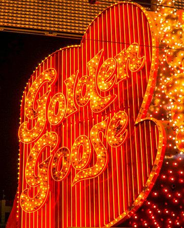 Golden Goose striptease club in Downtown Las Vegas - LAS VEGAS - NEVADA - APRIL 23, 2017 Editorial