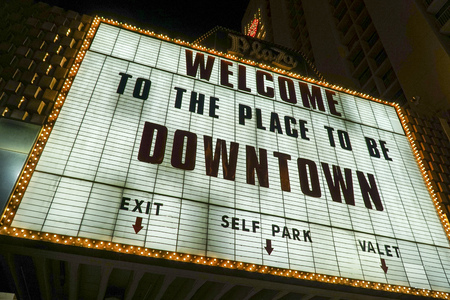 gamblers: Welcome to the place to be in Downtown Las Vegas - LAS VEGAS - NEVADA - APRIL 23, 2017 Editorial