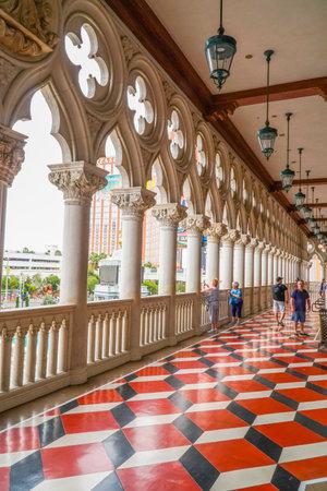 gambler: Amazing balcony of Venetian Hotel Las Vegas - Doges Palace - LAS VEGAS - NEVADA - APRIL 22, 2017