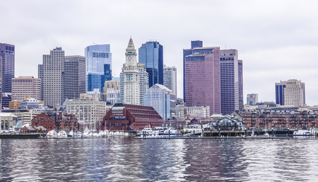 prudential: Skyline of Boston - view from Boston Harbor