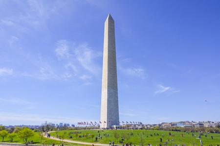 Famous Obelisk- the Washington Monument Stock Photo
