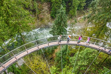 Wonderful Capilano Suspension Bridge Park in Canada - CAPILANO / CANADA - APRIL 12, 2017 報道画像