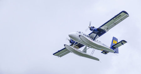 Fly over Canada - Waterplanes in the sky of Vancouver - VANCOUVER - CANADA - APRIL 12, 2017