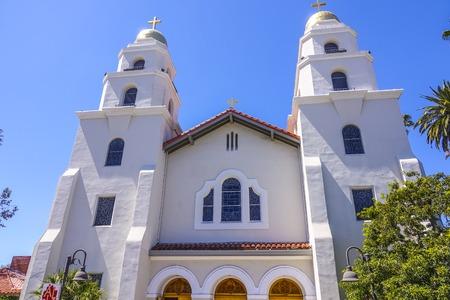 santa monica: Beautiful little church Stock Photo