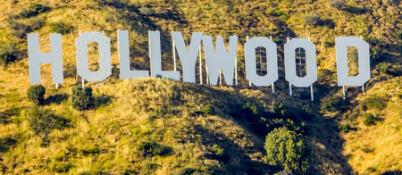 santa monica: Famous Hollywood sign in Los Angeles - LOS ANGELES  CALIFORNIA - APRIL 20, 2017 Editorial