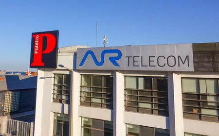 tagus: AR Telecom building in Lisbon - LISBON - PORTUGAL - JUNE 17, 2017