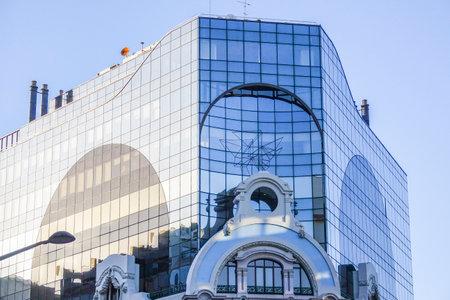 tagus: Modern building in Lisbon - LISBON - PORTUGAL - JUNE 17, 2017