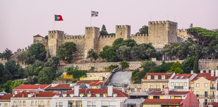 St Georges Castle on the hill of Lisbon - LISBON - PORTUGAL