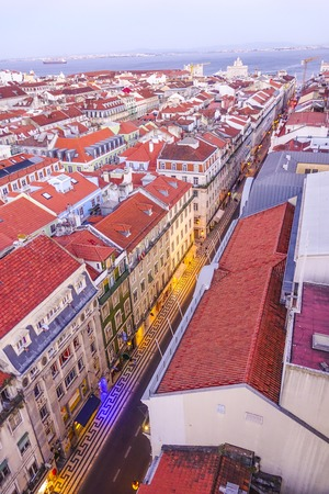 View over the city of Lisbon from elevator Saint Justa - LISBON - PORTUGAL