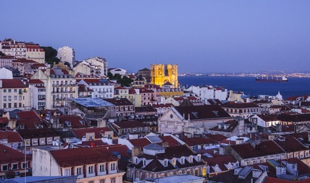Lisbon by night - beautiful aerial view - LISBON - PORTUGAL