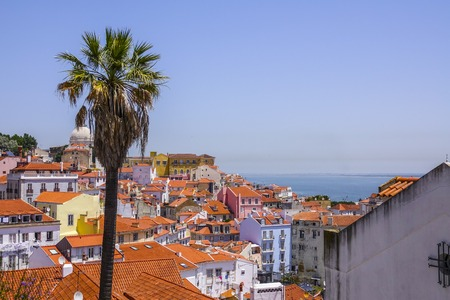 Sightseeing platform on the hill of Alfama Lisbon with a perfect view over the city - LISBON - PORTUGAL