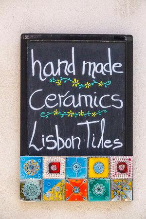 tagus: Hand made ceramics in Lisbon - LISBON - PORTUGAL - JUNE 17, 2017