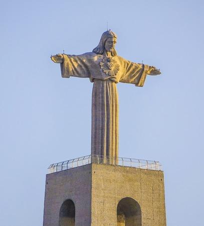 tagus: Cristo statue in Lisbon - the statue of Jesus Christ