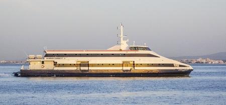tagus: Ferry on Tagus River Lisbon - LISBON - PORTUGAL 2017