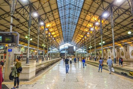 Beautiful Rossio Train Station in Lisbon