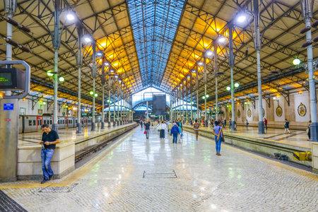 tagus: Beautiful Rossio Train Station in Lisbon