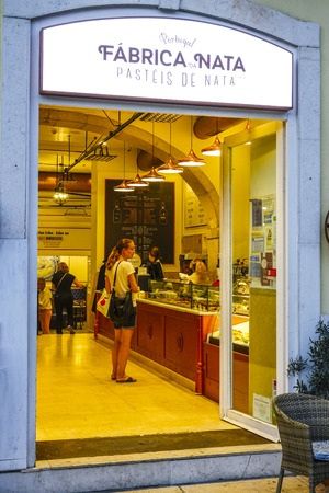 tagus: Famous bakery and pastry shop in Lisbon called Fabrica Nata