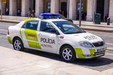 tagus: Lisbon Police Car in the city