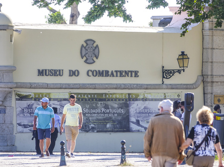 Military Museum in Lisbon Belem called Museu do Combatente 報道画像