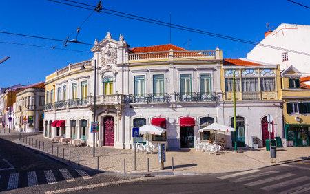tagus: Beautiful street corner in Belem - a district of Lisbon
