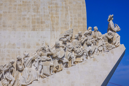 Monument of the Discoveries in Lisbon Belem at Tagus River