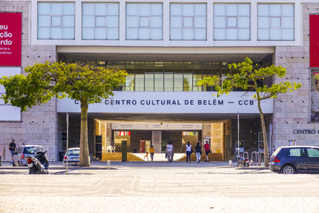 CCB in Lisbon - Cultural Centre of Belem - aerial view