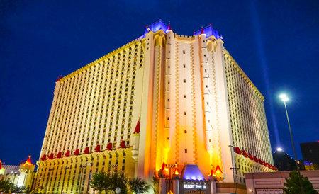 Beautiful Excalibur Hotel and Casino in Las Vegas - LAS VEGAS  NEVADA - APRIL 25, 2017