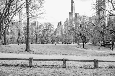 Beautiful Central Park New York - wonderful place to relax - MANHATTAN  NEW YORK - APRIL 2, 2017