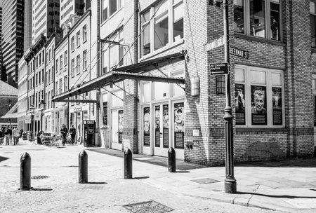 Front street at Fulton Market New York - MANHATTAN  NEW YORK - APRIL 2, 2017
