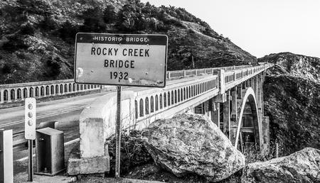 Rocky Creek Bridge at Big Sur California