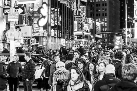 Manhattan Time Square - a crowded place - MANHATTAN - NEW YORK - APRIL 2 , 2017