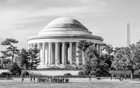 Thomas Jefferson Memorial a Washington DC - WASHINGTON - DISTRETTO DI COLUMBIA - 9 APRILE 2017 Archivio Fotografico - 82469347