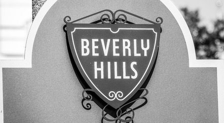 Beverly Hills Sign in Los Angeles - LOS ANGELES - CALIFORNIA - APRIL 20, 2017 Editorial